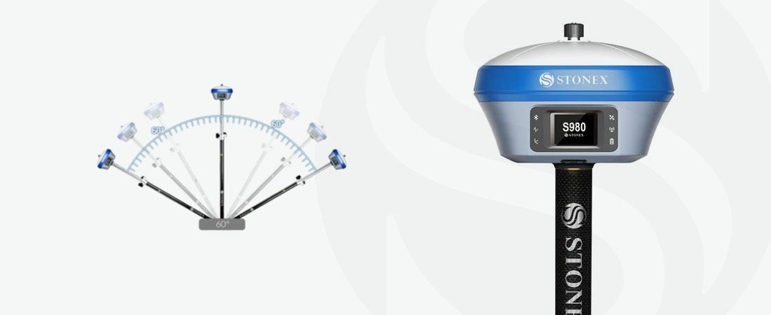 stonex s980 rtk gnss receiver tilt sensor