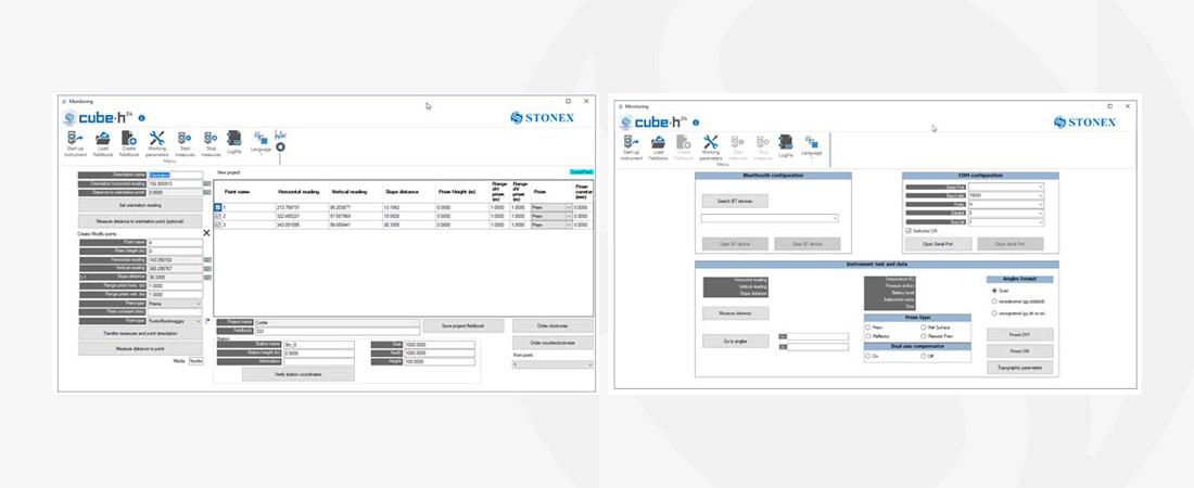 stonex cube-h monitoring software